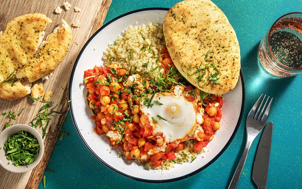 Chickpea Shakshuka with couscous,
